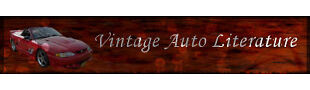 Vintage Auto Literature and Manuals