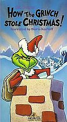 how the grinch stole christmas vhs 1990 ebay - How The Grinch Stole Christmas Vhs