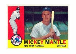 1960 Topps Mickey Mantle New York Yankees 350 Baseball Card