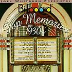 Billboard Pop Memories: The 1930s by Various Artists (CD, Feb-1994, Rhino (Label))
