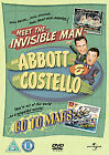 Abbott And Costello - Meet The Invisible Man/Go To Mars (DVD, 2012)