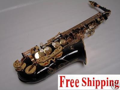 Professional Black Gold Alto Saxophone Sax Brand New on Rummage