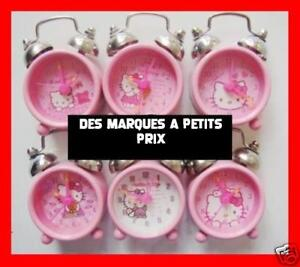 MINI-REVEIL-MATIN-HELLO-KITTY-NEUF-HORLOGE-ENFANT-FILLE