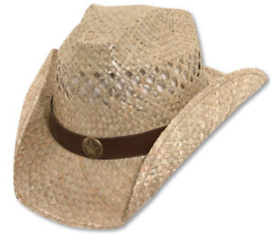 bret michaels western cowboy straw hat star concho be a rockstar new with tags ebay. Black Bedroom Furniture Sets. Home Design Ideas