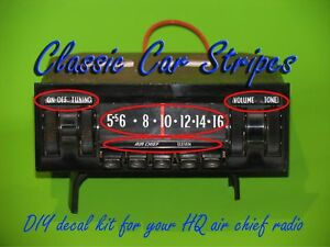 HQ Air Chief Radio Decal kit  monaro gts ss statesman