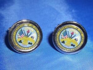 UNITED STATES ARMY NEW CHROME FINISH CUFFLINKS
