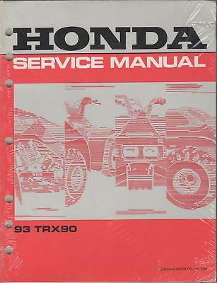 1993 Honda Atv 4 Wheeler Trx90 Service Manual