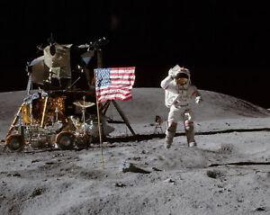 Moon Landing Flag Salute NASA Aldrin Armstrong 11 x 14 ...
