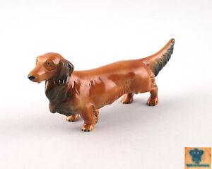 9942144-Porzellan-Figur-Wagner-amp-Apel-Langhaar-Dackel-Hund-21x9cm
