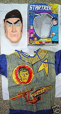 STAR TREK MR. SPOCK HALLOWEEN COSTUME 1975 Ben Cooper