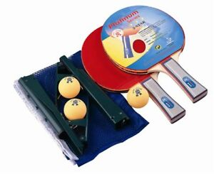 SET OF 2 TABLE TENNIS BATS 3 BALLS AND PORTABLE NET