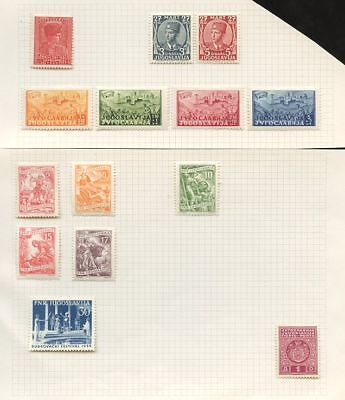 YUGOSLAVIA 1933-55 MINT on PAGES...14 stamps