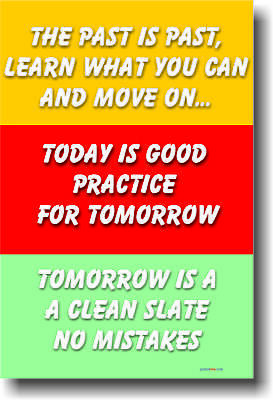 The Past Is The Past - Motivational Classroom Poster