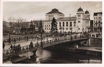 Bromberg - Stadttheater, Foto Ak um 1935