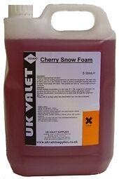 UK VALET CHERRY SNOW FOAM - 5L VALETING DETAILING *WOW*