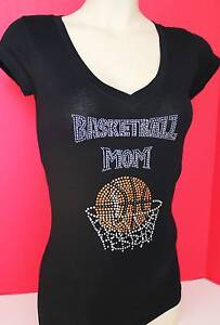 RHINESTONE-BASKETBALL-MOM-S-M-L-1XL-2XL-3XL-SHIRT-NEW