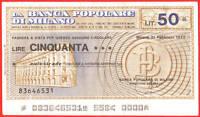 Mini Assegno Circolare - Banca Popolare Milano Lire 50 -  - ebay.it