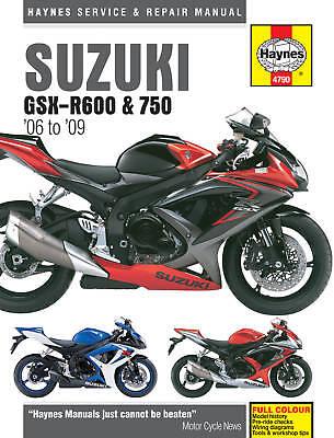Haynes Manual 4790 Suzuki GSXR750 GSX-R750K6 GSX-R750K7 GSX-R750K8 GSX-R7500K9