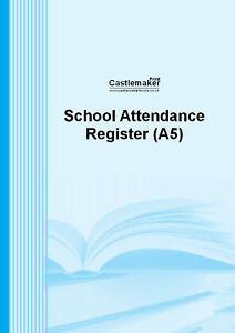 SCHOOL ATTENDANCE REGISTER (A5) S040  . FREE UK DELIVERY .