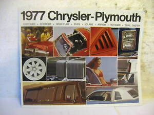 1977-CHRYSLER-PLYMOUTH-FULL-LINE-SALES-LITERATURE-NOS