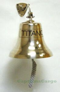 "TITANIC Nautical Marine Solid Brass Ships Bell 8"" Wall Decor New"