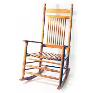 Bois solide traditionnel chaise bascule ch ne sx005 ebay - Chaise a bascule a vendre ...