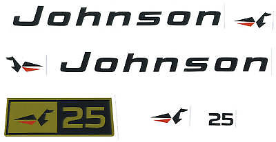 Johnson Outboard Hood Decals 1969 25 Hp