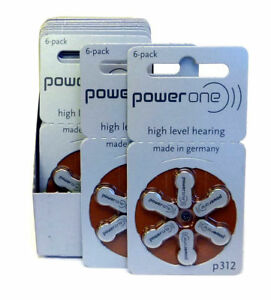 60-Power-One-Hearing-Aid-Batteries-Made-in-Germany-Size-312-NEW-Expire-2017