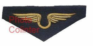 Superbes-Ailes-de-poitrine-brodees-cannetille-d-039-Officier-Aviation-Annees-40-50