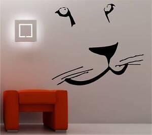 cat bedroom. Image is loading LION FACE wall art sticker vinyl BIG CAT  bedroom animal eBay