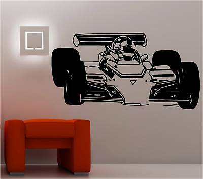 Norme voiture de course art mural autocollant vinyle chambre enfants ebay for Autocollant decoratif mural
