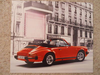 1989 Porsche 911 Carrera Cabriolet Showroom Advertising Poster RARE Awesome L@@K