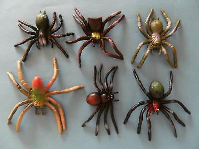 Spinnen Stretch 6erset 9 Cm Spinne Stretchspinne Stretchspinnen Vogelspinnen Neu