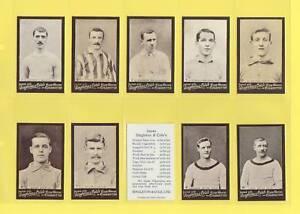 SINGLETON & COLE - SET OF 50 FOOTBALLERS        (REPRO)