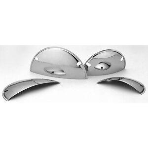 Chrome-Half-Moon-Headlight-Shield-Visor-Trim-VW-Camper-Beetle-7-034-T1-T2-Bay-Bug
