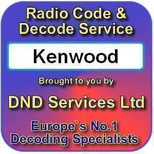 CODES KENWOOD RADIO UNLOCK