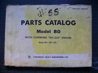 Kawasaki Model 80 Wheel Loader Parts Manual Book Catalog List Shop Pay Factory