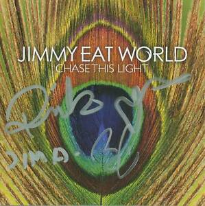 JIMMY EAT WORLD SIGNED Chase This Light CD Booklet COA | eBay
