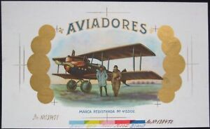 Proof-Aviation-Cigar-Box-Label-AVIADORES-Amelia-Earhart
