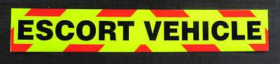 Escort Vehicle Fluorescent Magnetic Warning Sign