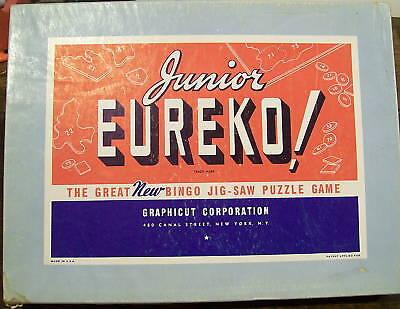 Junior-Eureko-1942-Bingo-Jig-Saw-Puzzle-Game-Complete