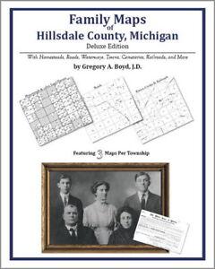 Family-Maps-Hillsdale-County-Michigan-Genealogy-MI-Plat