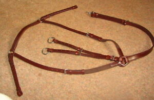 FRANK BAINES English LeatherElastic Hunting Breastplate Running Martingale NUT