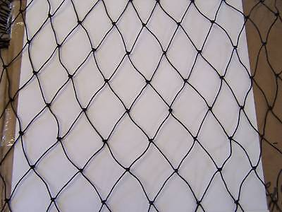60' X 10' Batting Cage Netting 1 3/4 Black Nylon 15