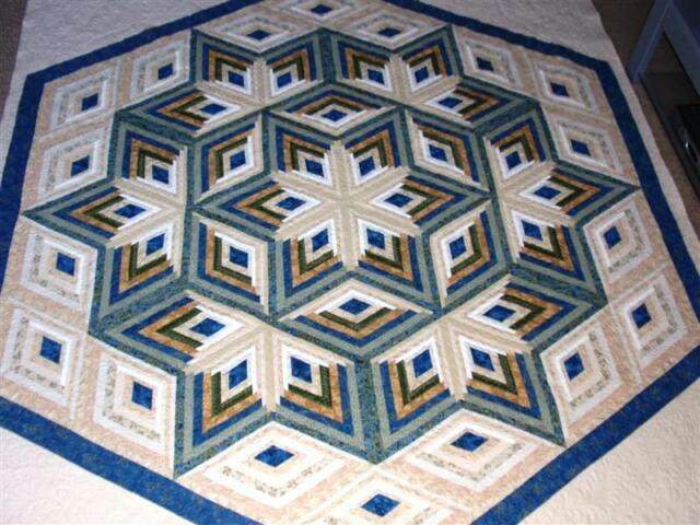Diamond Log Cabin Star Quilt Pattern | eBay : lone star log cabin quilt pattern - Adamdwight.com