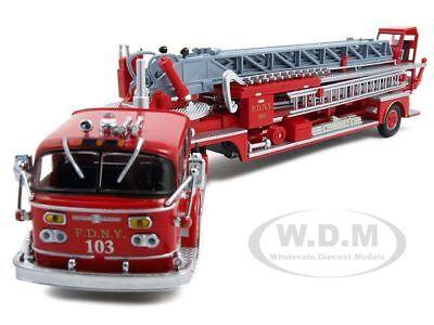 Fdny Ladder 103 American Lafrance Tda Alf 900 1/64 Diecast Model By Code 3 12499