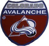 NHL Colorado Avalanche Hockey Team Route / Interstate Wall Sign