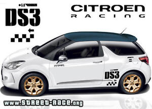 Citroen C3 DS3 racing rally stickers graphics decals (sides)