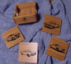 Pontiac GTO Bamboo Coaster Set 5 pcs. Laser Eng.