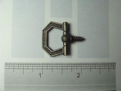 20 Small Antique Brass Hexagon Decorative Swivel Plaque Ring Hangers + Samples